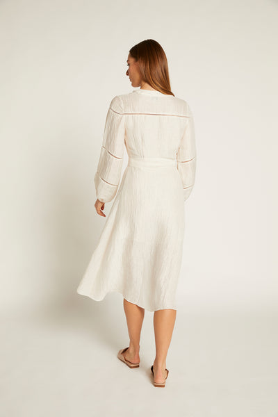 Ivory Luca Wrap Dress