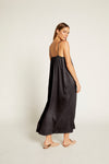 Black Hammered Silk Avery Maxi