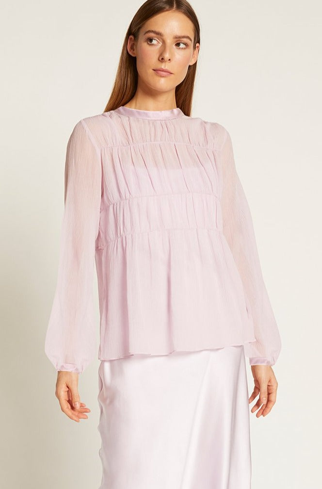 Lilac Finley Gathered Top