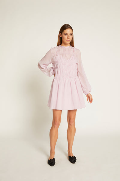 Lilac Finley Gathered dress