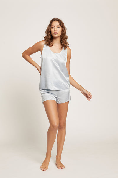 Ice Blue Washable Silk Short