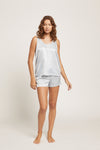 Ice Blue Washable Silk Tank