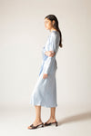 Ginia RTW,Sky Ella Silk Satin Dress,Dresses