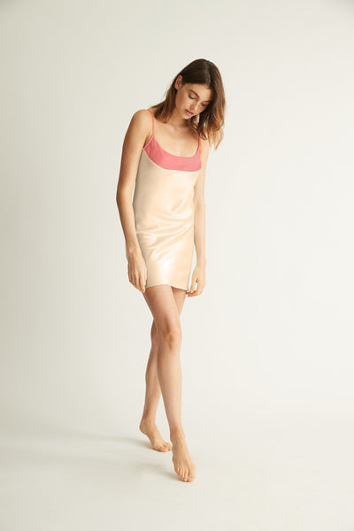 GINIA,Contrast Wide Band Chemise,[variant_sku]