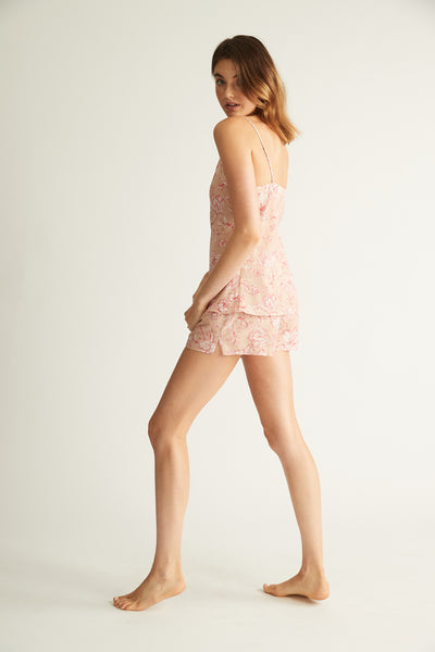 GINIA,Silk Cotton Short,Sleepwear