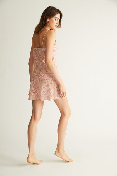 GINIA,Silk Cotton Chemise,Sleepwear