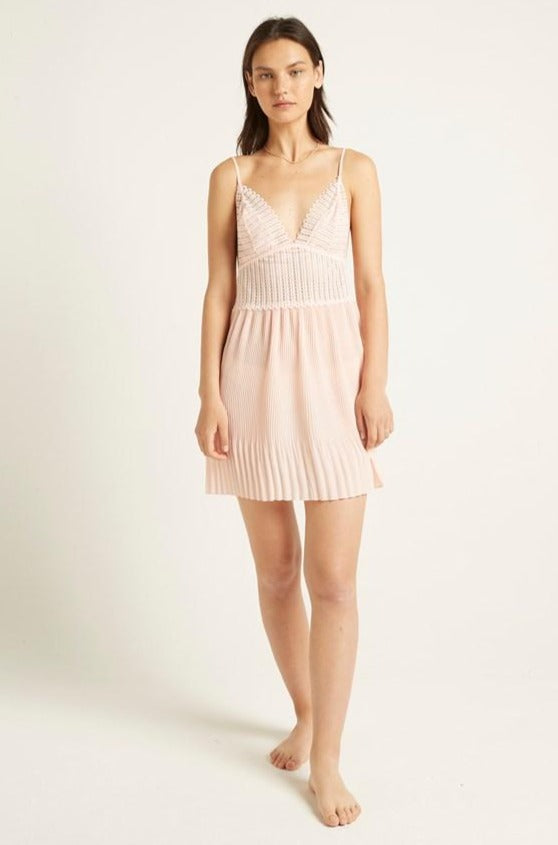 Cloud Pink Isabella Pleated Chemise