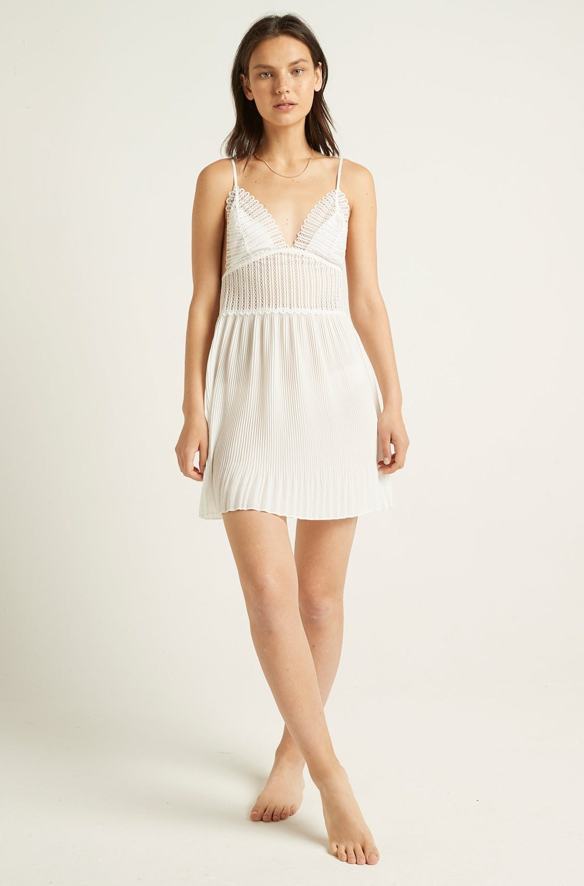 Camille Pleated Chemise