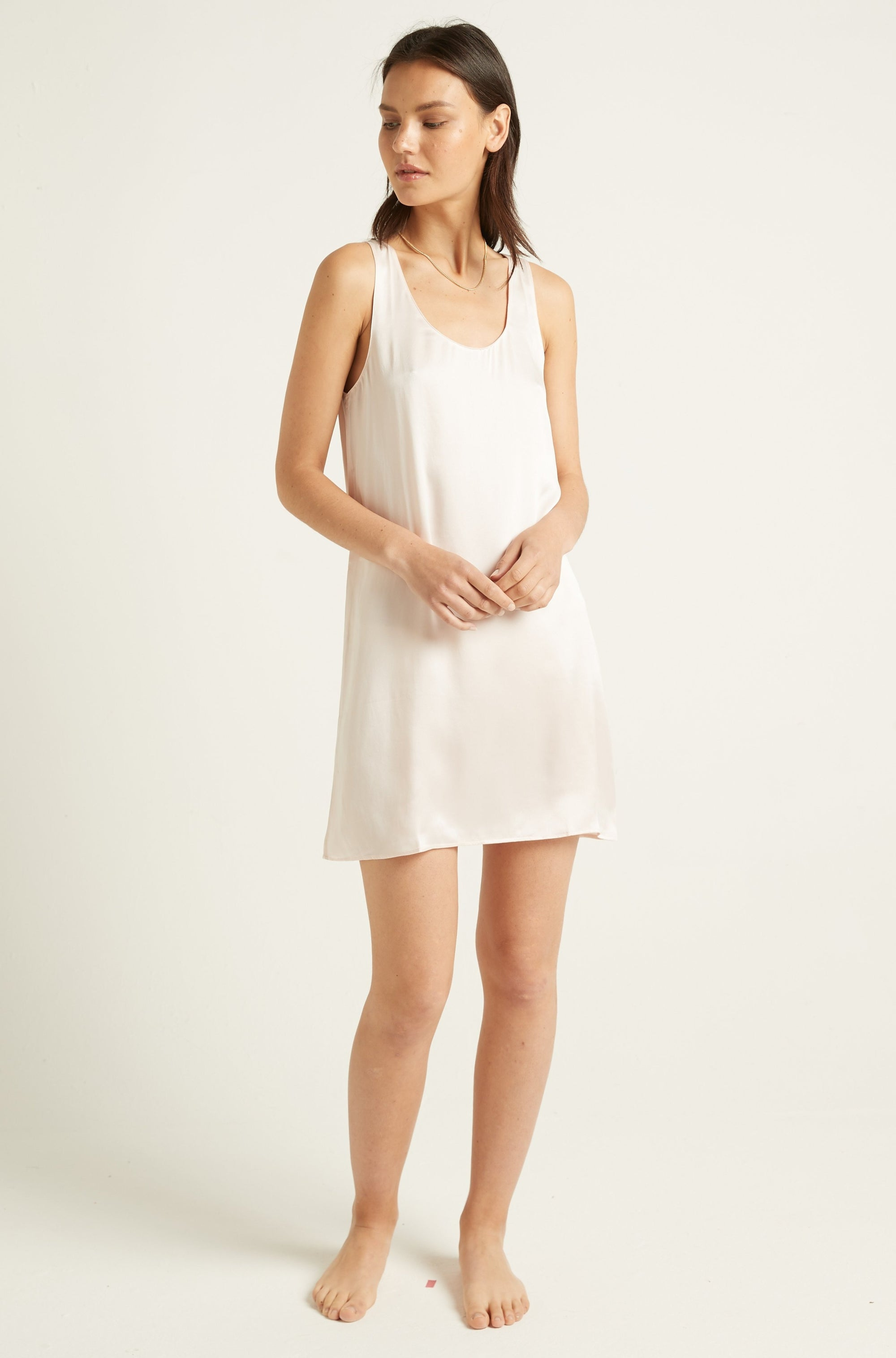 GINIA,PRE-ORDER Washable Silk Chemise,Chemise
