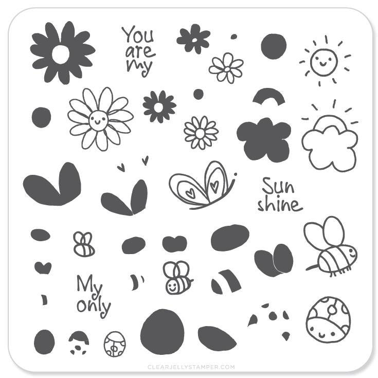Small Stamping Plate Sunshine
