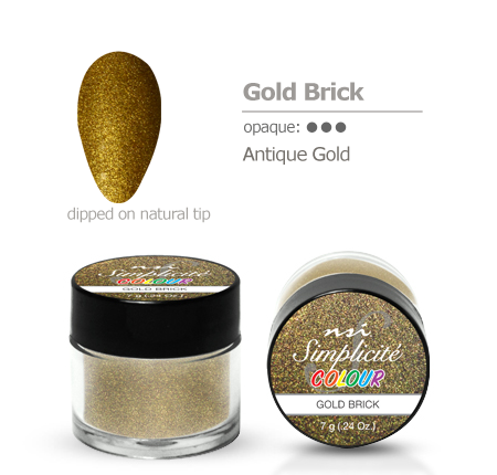 Simplicite' Dipping Powder Gold Brick