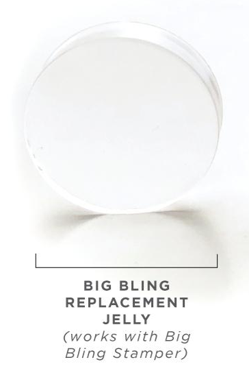 Clear Jelly Stamper replacement Jelly Stamper for Big Bling 2 Pack