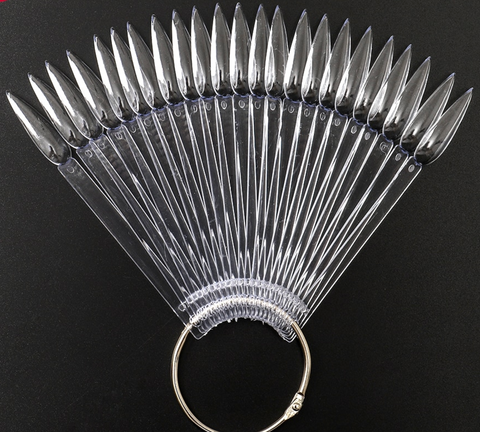 40 ct Stiletto Fan Display Clear