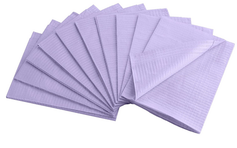 Purple Disposable Table Mats 10pk