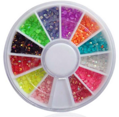 3mm Jelly AB Colour Rhinestone Wheel