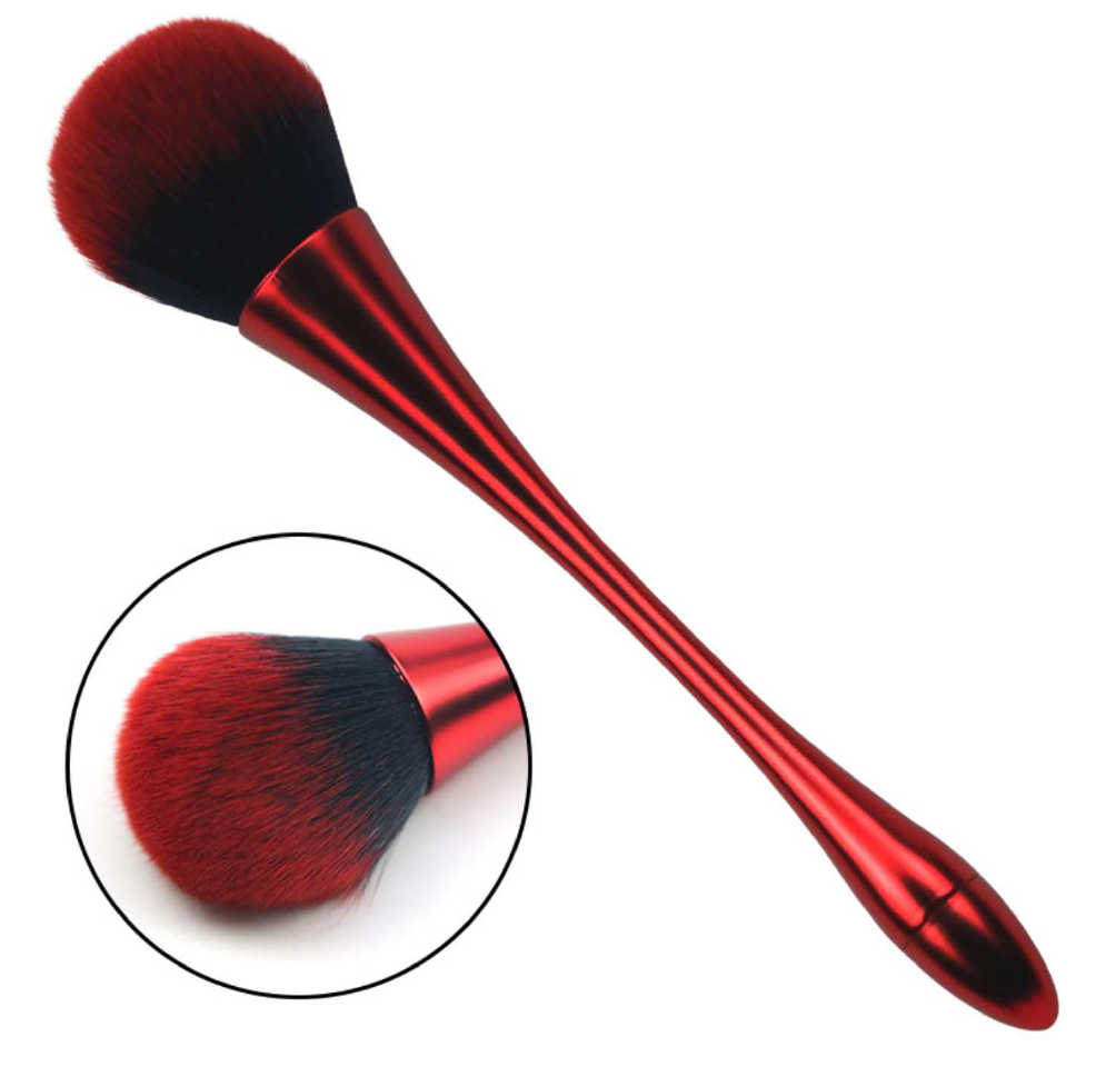 Red Nail Dusting Brush