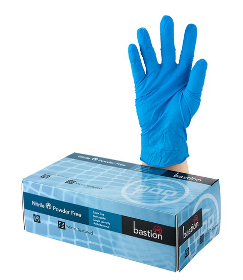 Box 100 Premium Blue Nitrile Large Gloves
