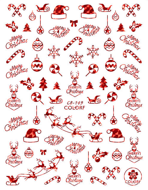 CB149 Christmas Nail Sticker