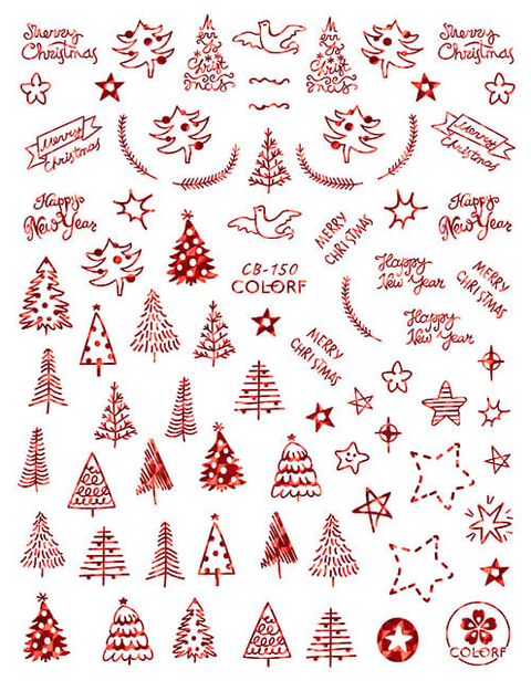 CB150 Christmas Nail Sticker