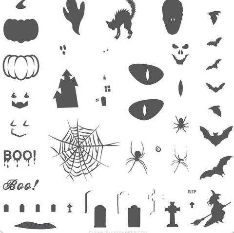 Small Stamping Plate Halloween Boo!