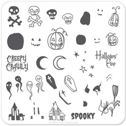 Small Stamping Plate Spooky