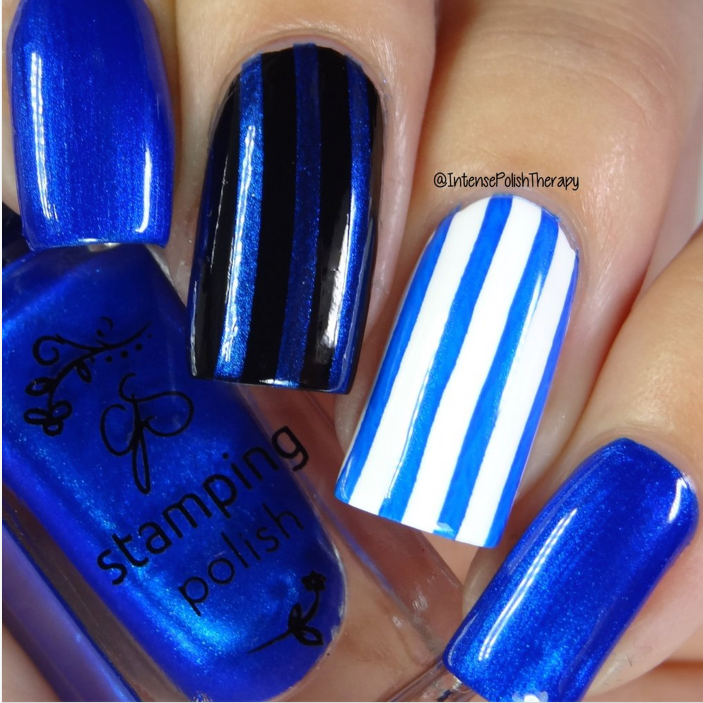 #32 Blue Right on By - Nail Stamping Color (5 Free Formula)