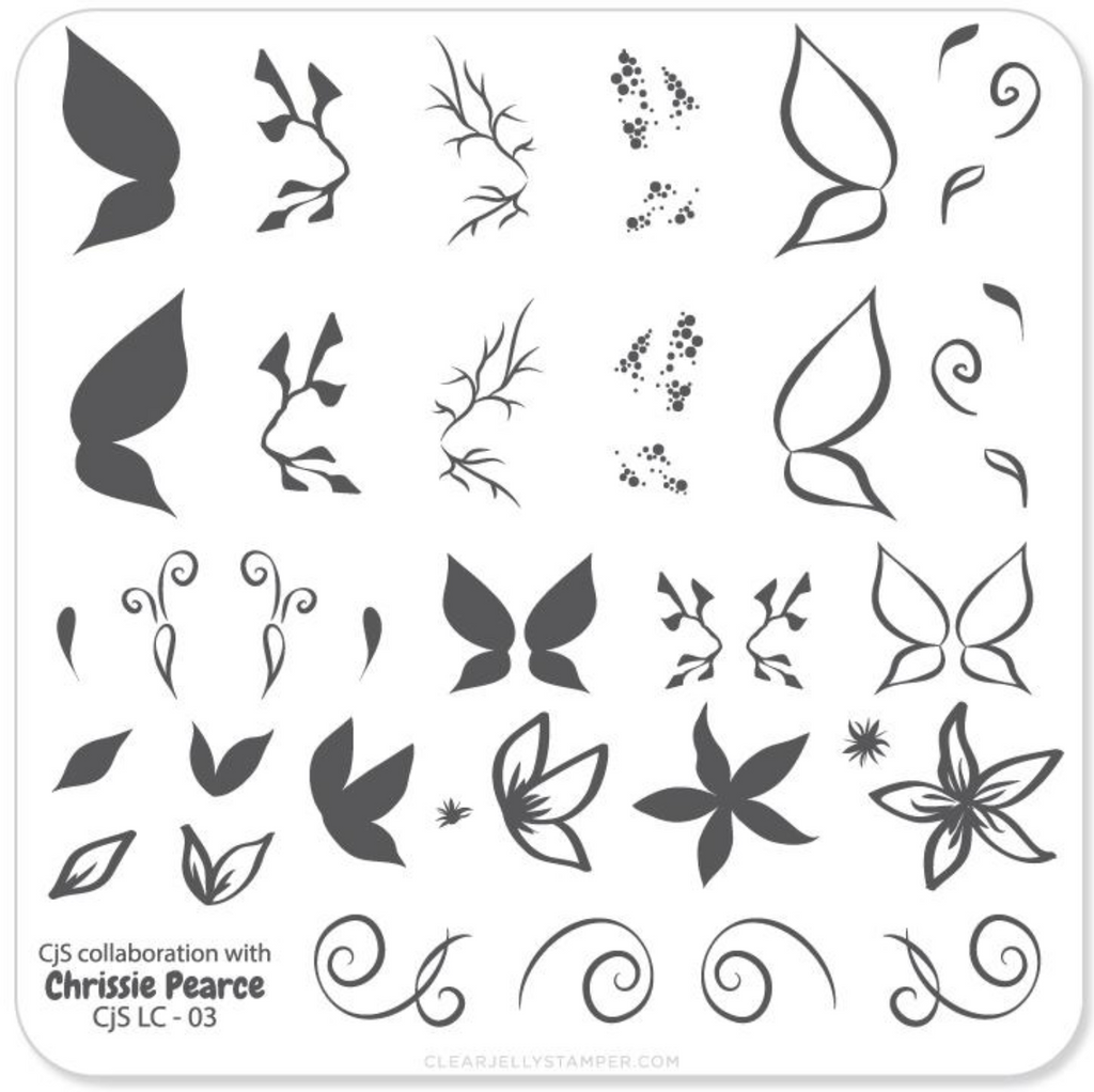 Chrissie Pearce's Butterfly (CjSLC-03) - Steel Stamping Plate
