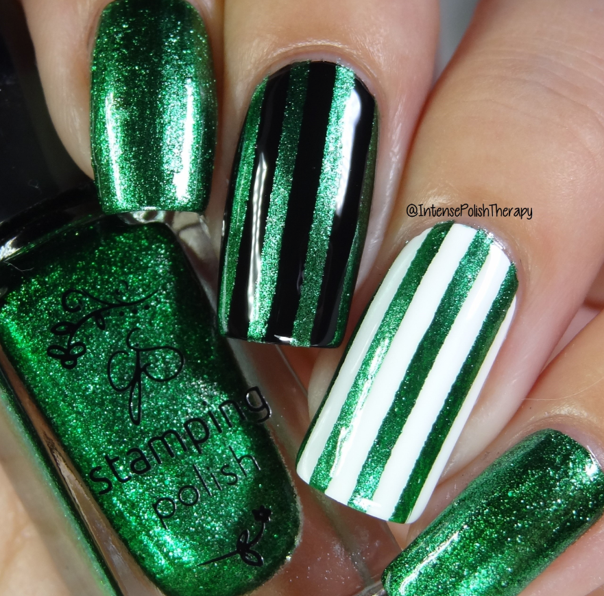 #61 Glitzy Evergreen - Nail Stamping Colour (5 Free Formula)