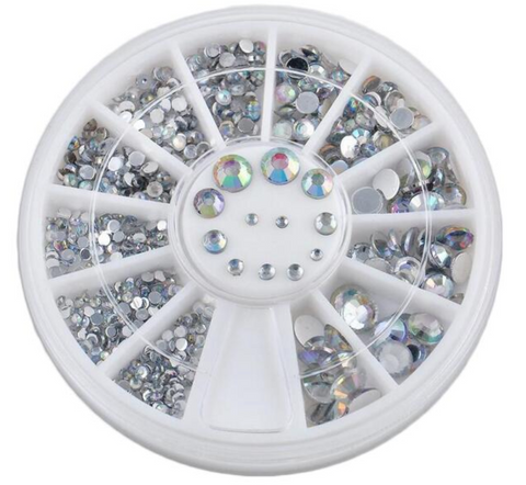 1.5, 2, 3 & 4mm AB Colour Rhinestone Wheel