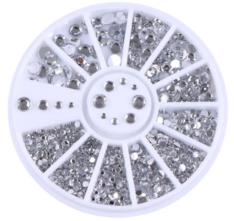 1.5, 2, 3 & 4mm Crystal Rhinestone Wheel