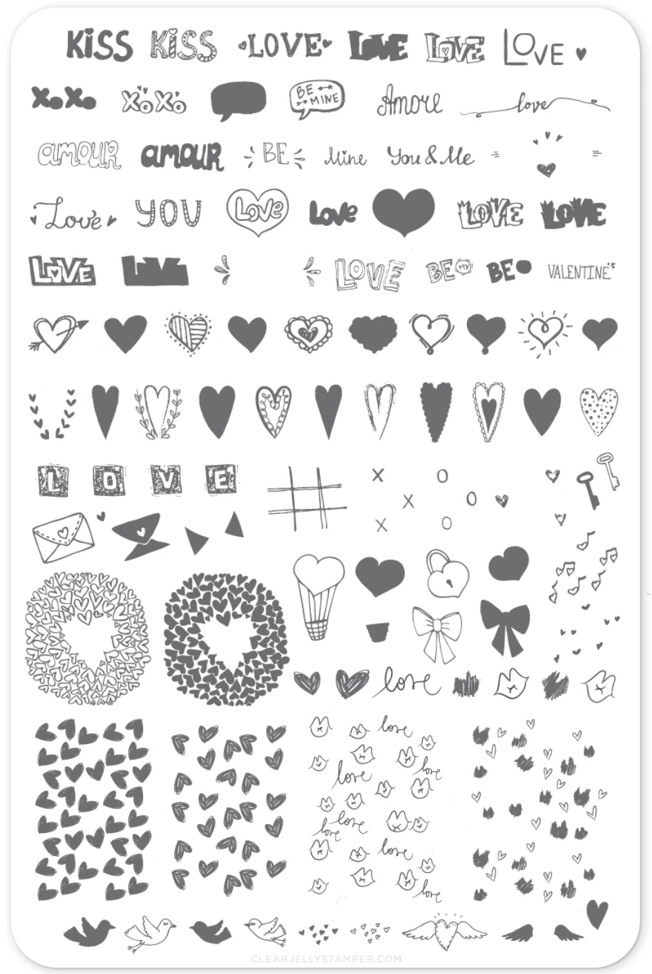 LoVe Notes (CjS V-12)  Large Steel Stamping Plate