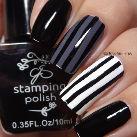 BLACK #1 CJs More Like 1AM - Nail Stamping Colour (5 Free Formula) 10ml Bottle