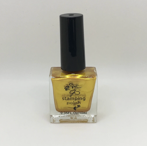 GOLD #3 All that Glitters - Nail Stamping Colour (5 Free Formula) 10ml Bottle