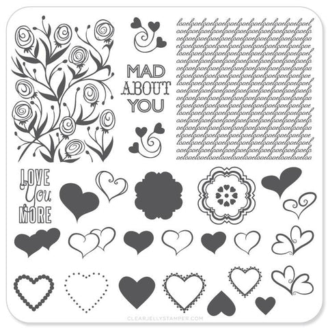 Small Stamping Plate Layers Of Love