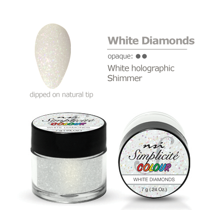 Simplicite' Dipping Powder White Diamonds