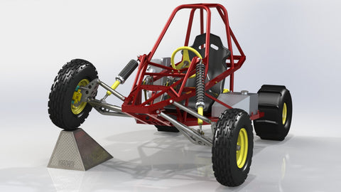 double a-arm front suspension for the sidewinder off road buggy