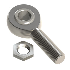 "1/2"" Chome moly rod end (Left-hand male)"