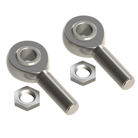 "1/2"" UNF Male Rod Ends (2x LH)"