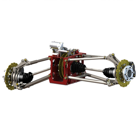 CV2 rear suspension kitset (upright brakes)