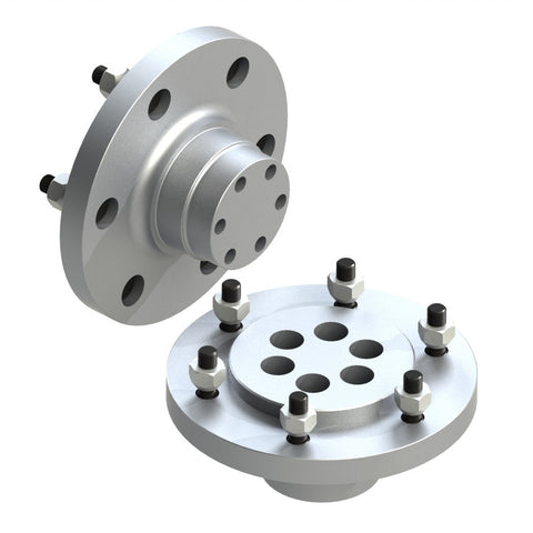 One piece wheel hubs