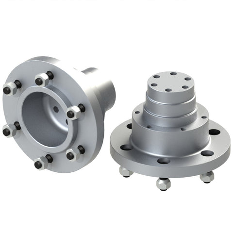 Rear wheel hubs with Rotor mount