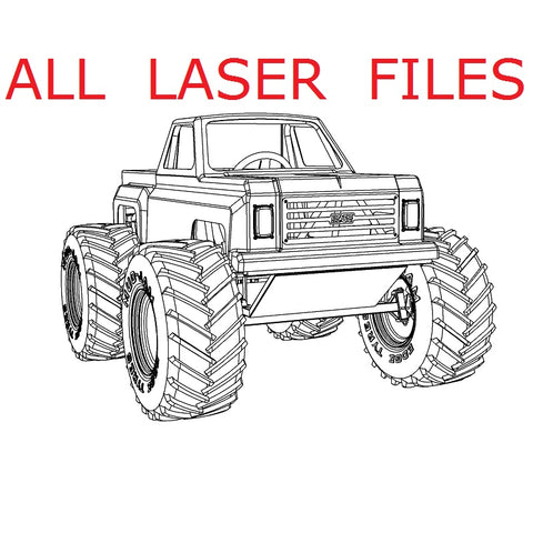 Mini Monster Truck Laser Files (All)