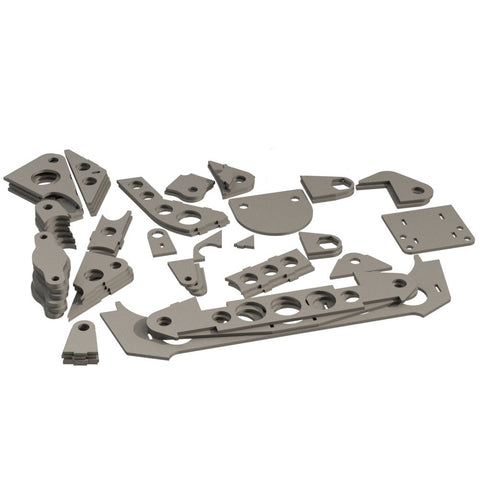 Laser cut bracket kit for Piranha III chassis (No S1 housing)