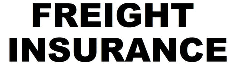 Freight Insurance $25 - $50