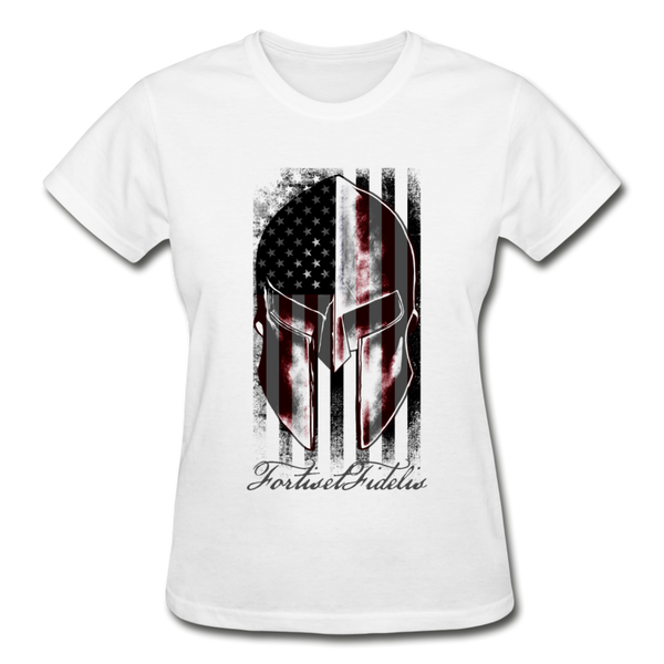 Women's Spartan Tee - white