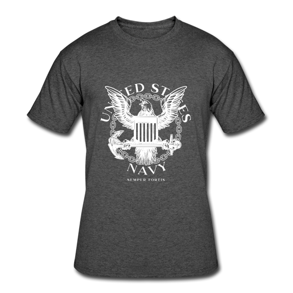 Navy Semper Fortis Tee - heather black