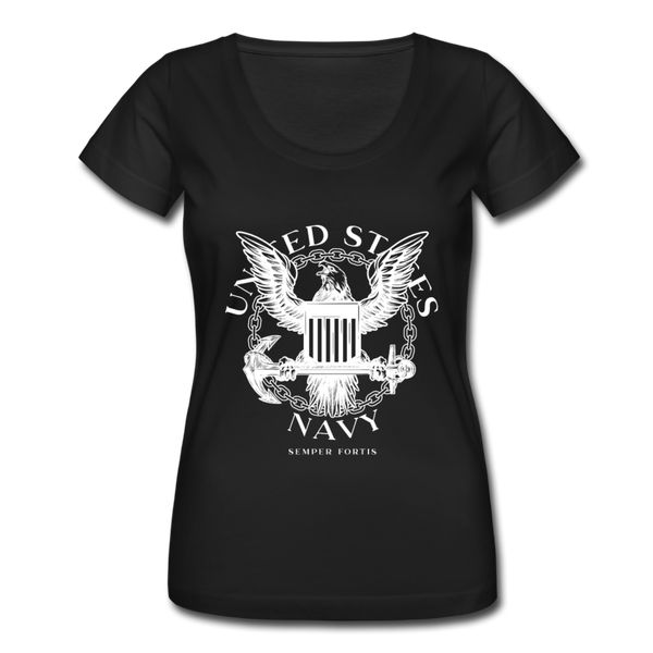 Women's Navy Tee - black