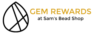 Gem Rewards at Sam's Bead Shop LOGO