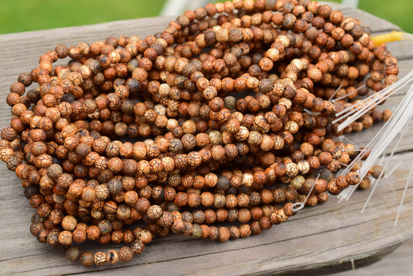 "Crackle Earth Agate Round Beads (heat-treated), Not perfectly shaped - 6mm - 15"" Strand"