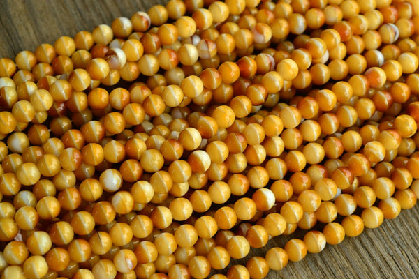 Czech Glass Druk Round Beads, Popcorn - 6mm - 50-pc Set